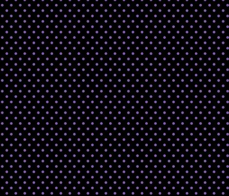 halloween » dotty purple on black fabric by misstiina on Spoonflower - custom fabric