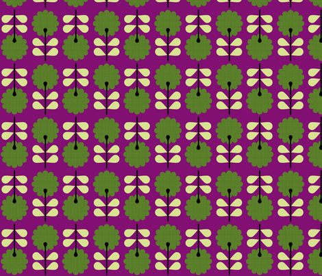 Berry Bush Purple fabric by brainsarepretty on Spoonflower - custom fabric