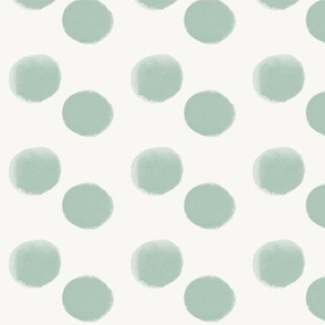Mint dots watercolor dots mint || by sunny afternoon