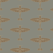 Supermarine Spitfire Repeating Pattern
