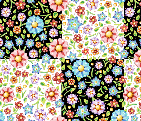 Millefiori Patchwork fabric by patriciasheadesigns on Spoonflower - custom fabric