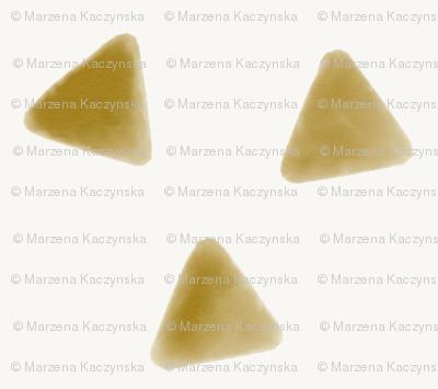 Mustard triangles watercolor geometric  golden honey yellow