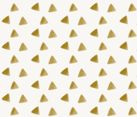 Mustard triangles watercolor geometric  golden honey yellow fabric by sunny_afternoon on Spoonflower - custom fabric