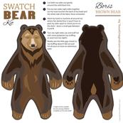 Teddy Bear Swatch Kit - Boris the Bear