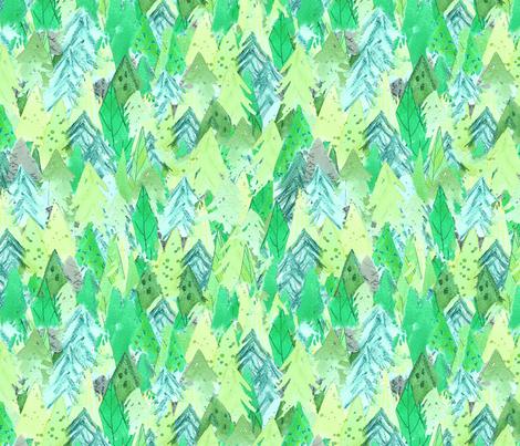 Woodland Forest - Green fabric by daintydora on Spoonflower - custom fabric