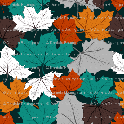 fall Leaves in bright colors