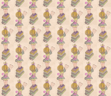 Reaching Up/Vintage fabric by unclemamma on Spoonflower - custom fabric