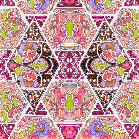 Flower Powered fabric by edsel2084 on Spoonflower - custom fabric