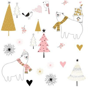 Holiday Winter Love - Woodland Animals
