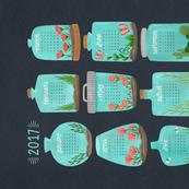 2017 Terrarium Calendar - Grey