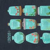 2018 Terrarium Calendar - Grey