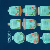 2018 Terrarium Calendar - Navy