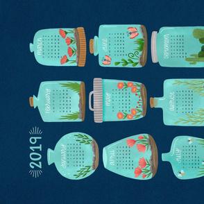 2019 Terrarium Calendar - Navy