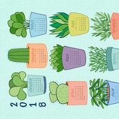 2018 Houseplant Tea Towel Calendar