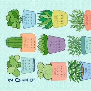 2019 Houseplant Tea Towel Calendar