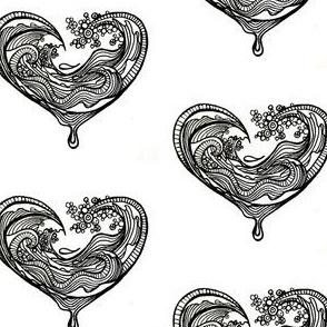 Saltwater Heart White