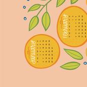 2019 Citrus Tea Towel Calendar - Pink