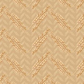 Chevron Gold Tan Cream Wheat Small || Food bread Midwest Home Decor_Miss Chiff Designs