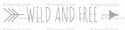 Wild and Free Arrows - Typography - grey/white