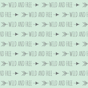 Wild and Free Arrows - grey on mint