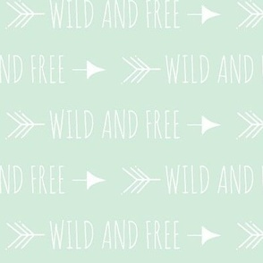 Wild and free arrows - mintgreen/white