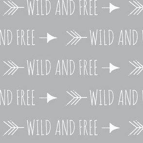 Wild and free arrows - grey/white