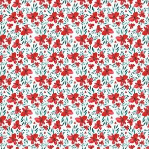 MINI Celebration Deer Seamless Red Floral