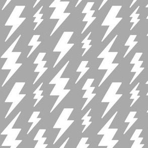 lightning bolts white on light slate grey » halloween - monochrome