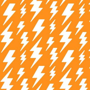 lightning bolts white on orange » halloween