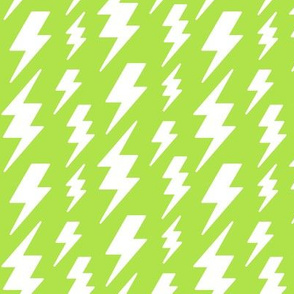lightning bolts white on lime green » halloween