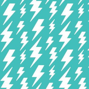 lightning bolts white on teal blue » halloween