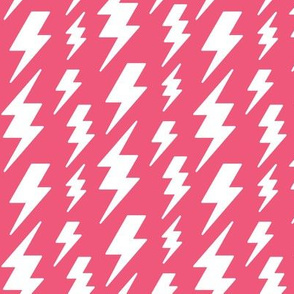 lightning bolts white on hot pink » halloween