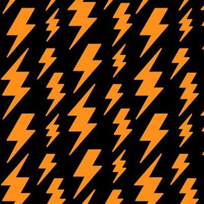 lightning bolts orange on black » halloween