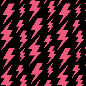 lightning bolts hot pink on black » halloween