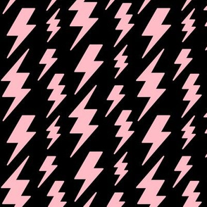 lightning bolts light baby pink on black » halloween