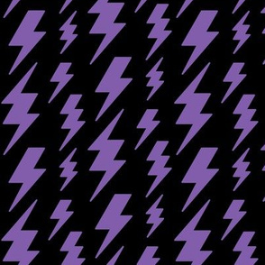 lightning bolts purple on black » halloween