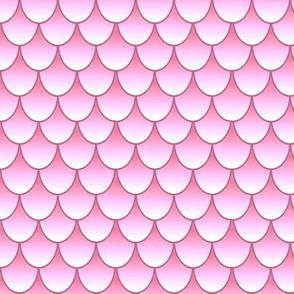 Mermaid/Dragon Scales - White Pink