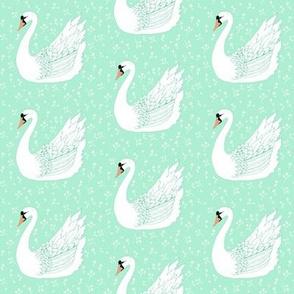 Swan on Mint