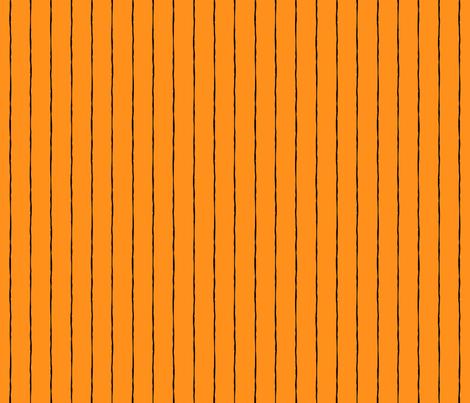 pinstripes black on orange » halloween fabric by misstiina on Spoonflower - custom fabric