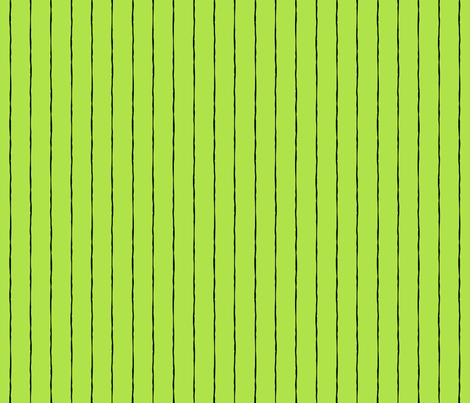 pinstripes black on lime green » halloween fabric by misstiina on Spoonflower - custom fabric