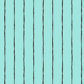 pinstripes black on light baby teal blue » halloween