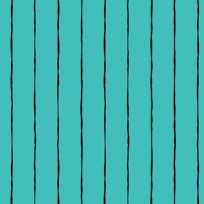 pinstripes black on teal blue » halloween
