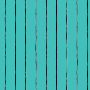 pinstripes black on teal blue » halloween