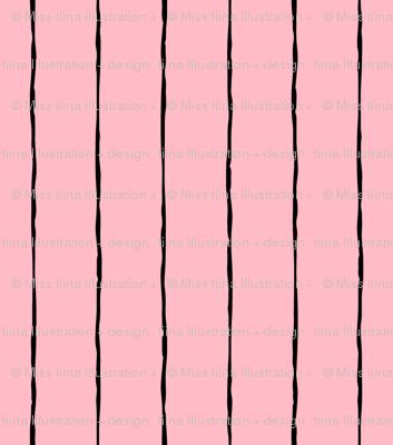 pinstripes black on light baby pink » halloween