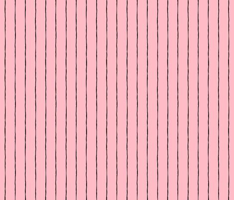 pinstripes black on light baby pink » halloween fabric by misstiina on Spoonflower - custom fabric