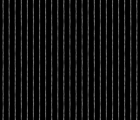 pinstripes white on black » halloween - monochrome - black and white fabric by misstiina on Spoonflower - custom fabric