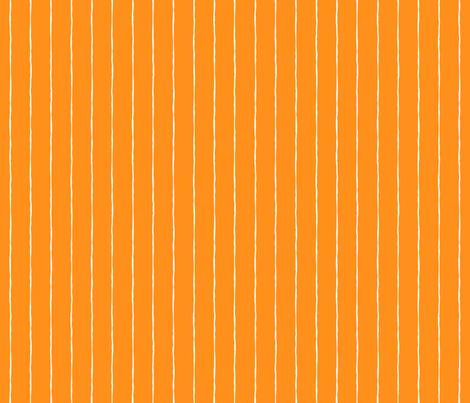 pinstripes white on orange » halloween fabric by misstiina on Spoonflower - custom fabric