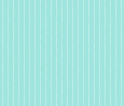 pinstripes white on light baby teal blue » halloween fabric by misstiina on Spoonflower - custom fabric