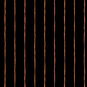 pinstripes orange on black » halloween