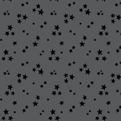 starry black on dark grey » halloween - monochrome stars